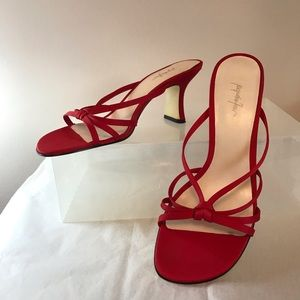 Red Dressy Evening Shoe
